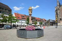 View in the historical town of Ulm, Germany. View in the historical town of Ulm , Baden-Württemberg Germany royalty free stock image
