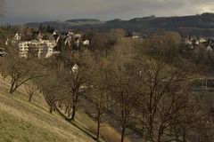 View of History castel museum of Bern from Rosengarten on sunset . Switzerland. Royalty Free Stock Photo