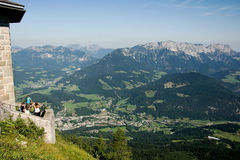 View from Hitler's Eagle's Nest in the valley Stock Photo