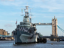 View of HMS Belfast Stock Photography