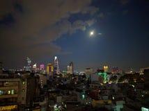 Ho chi minh city at night, vietnam Stock Photo