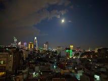 Ho chi minh city at night, vietnam Royalty Free Stock Photos
