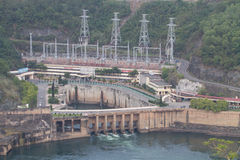View of Hoa Binh Hydroelectricity Plant. HOA BINH, VIETNAM - AUG 4, 2014: View of Hoa Binh Hydroelectricity Plant. This plant was built from 1979 to 1994 with 8 Stock Photos