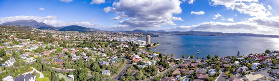 View of Hobart Waterfront and Sandy Bay Stock Image