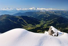 View from hochkonig to hohe tauern Stock Photos