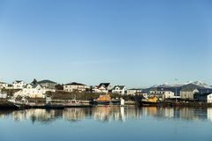 View of Hofn, Iceland stock photo