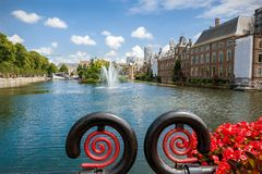 View of the Hofvijver and the Binnenhof in The Hague Royalty Free Stock Image