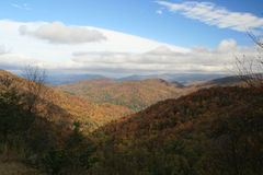 View from Hogpen Gap on Russell Brasstown Scenic Byway in Georgia.  Stock Photo