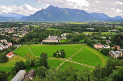 View from Hohensalzburg castle, Salzburg, Austria Royalty Free Stock Images