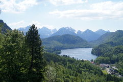 View of Hohenschwangau Castle. Bavaria from above. Picture was made from Neuschwanstein Castle. Hohenschwangau sight-seeing Stock Photography