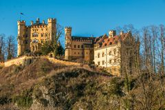 View of Hohenschwangau Castle, beautiful Romanesque Revival palace, southwest Bavaria, Germany. Europe stock image