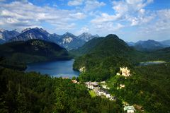 A view on Hohenschwangau Royalty Free Stock Photo