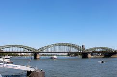 View of Hohenzollern Bridge in Cologne Royalty Free Stock Image