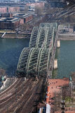 View on Hohenzollern Bridge in Cologne, Germany Royalty Free Stock Photography