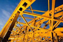 View of the Hohenzollern bridge stock images