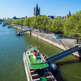 View from Hohenzollern-brucke on Rhein, Cologne, Germany Royalty Free Stock Images