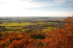 A view from Hohenzollern castle in Swabian. During autumn, Germany Stock Image