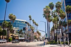 View of Hollywood Boulevard in Los Angeles Royalty Free Stock Photo