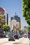 View of Hollywood Boulevard in Los Angeles Royalty Free Stock Photos