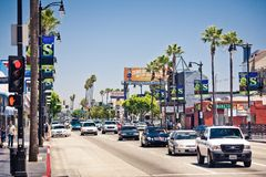 View of Hollywood Boulevard in Los Angeles Royalty Free Stock Images