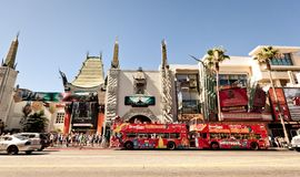 View of Hollywood Boulevard in Los Angeles Stock Image
