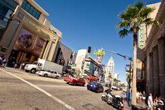 View of Hollywood Boulevard in Los Angeles Stock Photos