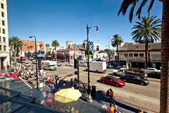 View of Hollywood Boulevard in Los Angeles Stock Images