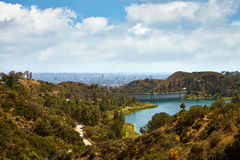 View of Hollywood Reservoir, in Los Angeles Stock Images