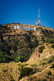 View of the Hollywood Sign from Canyon Lake Drive, in Los Angele Royalty Free Stock Images