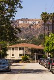 View of Hollywood sign in Los Angeles Royalty Free Stock Photo