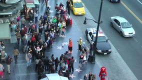 View of the Hollywood Walk of Fame on Hollywood Blvd in Los Angeles, CA on CIRCA 2014.