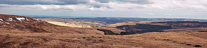 View from Holme Moss, looking towards Holmfirth Stock Image