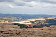 View from Holme Moss, looking towards Holmfirth Royalty Free Stock Image