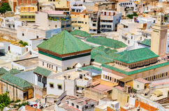 View of the holy city of Moulay Idris from above, Morocco Royalty Free Stock Photo