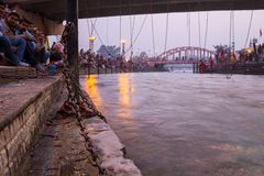 View of  holy ghats Stock Image