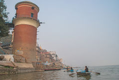 A view of Holy Ghats of Varanasi Royalty Free Stock Image