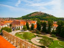 View of Holy Hill from Mikulov Castle Royalty Free Stock Photo
