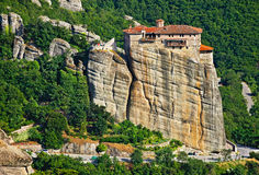 View of the Holy Monastery of Rousanou-St. Barbara. Meteora, Greece Stock Image
