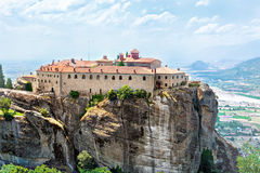 View of  Holy Monastery of St Stephen Agios Stefanos. Royalty Free Stock Photos