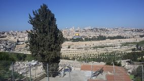 View of the Holy places of Jerusalem. royalty free stock photos