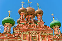 View of Holy Trinity Church. View of Ostankino Holy Trinity Church, Moscow, Russia, East Europe. Built in 1680 stock image