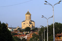 View of the Holy Trinity (Sameba) Cathedral Stock Image