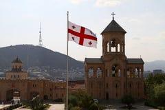 View of the Holy Trinity (Sameba) Cathedral Stock Photo