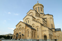 View of the Holy Trinity (Sameba) Cathedral Stock Photography