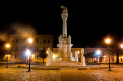 View of the Holy Trinity Square in Osijek Royalty Free Stock Images