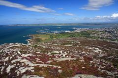 View from Holyhead Mountain. On the Isle of Anglesey North Wales Royalty Free Stock Image