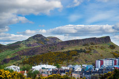 View for Holyrood Park from Calton Hill, Edinburgh, Royalty Free Stock Images