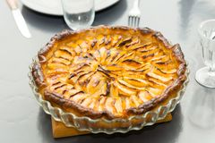 View of homemade apple pie tart. A view of homemade apple pie tart Royalty Free Stock Image