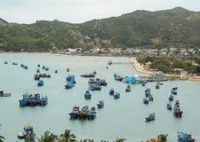 View of the Hon Khoi pier in Khanh Hoa, Vietnam Stock Images