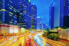 View of Hong Kong financial district architecture Royalty Free Stock Photos